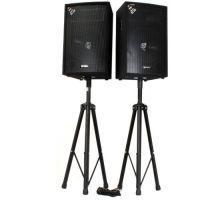 Vonyx speakerset - Twee SL12 speakers met standaards en kabel - 1200W