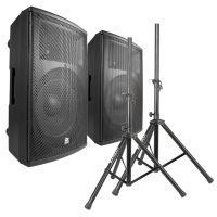Power Dynamics PD415A speakerset 2800W met standaards