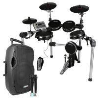 Carlsbro CSD500 mobiele mesh head drumset met speaker