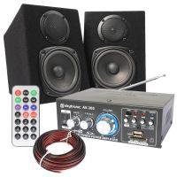Fenton Compacte HiFi Geluidsset met Versterker en Speakers