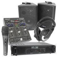 """SkyTec geluidsinstallatie """"Small DJ"""" met o.a. Bluetooth mixer"""