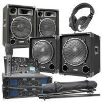 MAX-1012 Complete 1500W 2.2 DJ set met o.a. Bluetooth mixer