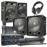 MAX-1215 Complete 2200W 2.2 DJ set met o.a. Bluetooth mixer