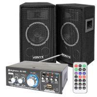 Vonyx SL6 geluidsbox met AV-360 versterker en kabels