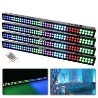 BeamZ LED BAR set met 4x LCB803 RGB LED BAR en 3 DMX kabels