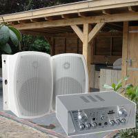 Terras / veranda geluidsset - Versterker, speakers en kabels