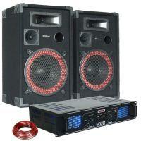 MAX 700W DJ PA Luidspreker en Versterker combinatie met MP3 en USB