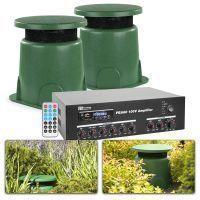 """100V geluidsinstallatie voor buiten met twee 5"""" speakers - 20W"""