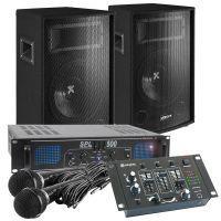 Vonyx Professionele Karaoke Set 500W compleet met versterker, speakers en kabels