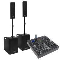 Vonyx VX1050BT mobiele 1150W DJ set met 4-kanaals mixer en kabels
