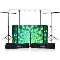 Vonyx mobiele DJ Booth met lichtbrug, 2x statief incl. tassen