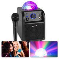 Vonyx SBS50B Karaoke set met microfoon, Bluetooth en lichteffect