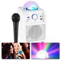 Vonyx SBS50W Karaoke set met microfoon, Bluetooth en lichteffect