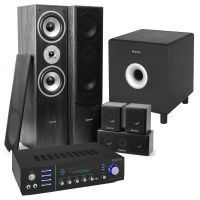 "Fenton Bluetooth home cinema set met 5 speakers en 10"" subwoofer - Zwart"