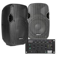 """Vonyx DJ set 400W met Bluetooth mixer en twee 8"""" speakers"""