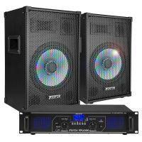 Fenton Bluetooth geluidsinstallatie 1000W met LED speakers