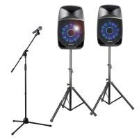 Complete Fenton FT1200A Karaoke set met echo en bluetooth