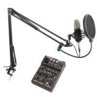 Vonyx Podcast Studiomicrofoon set met Bluetooth USB Mixer
