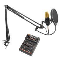 Vonyx CMS400B studiomicrofoon met arm en USB Bluetooth mixer
