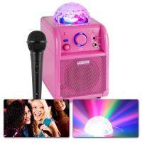 Vonyx SBS50P Karaoke set met microfoon, Bluetooth en lichteffect