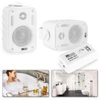 """Bluetooth speakerset 3"""" opbouw voor o.a. badkamer - Wit"""