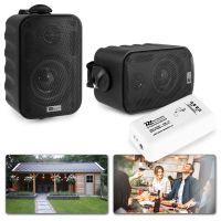 """Bluetooth speakerset opbouw 3"""" voor tuin en terras - Zwart"""