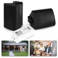 """Bluetooth speakerset opbouw 4"""" voor tuin en terras - Zwart"""