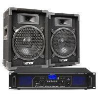 MAX8 DJ luidspreker en Bluetooth versterker combinatie 800W