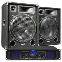 MAX15 DJ luidspreker en Bluetooth versterker combinatie 2000W