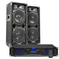MAX28 DJ luidspreker en Bluetooth versterker combinatie 1600W