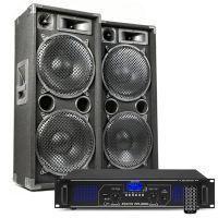 MAX212 DJ luidspreker en Bluetooth versterker combinatie 2800W