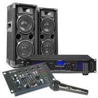 MAX26 DJ set met o.a. speakers, versterker en mixer - 1200W