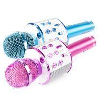 Set van 2 MAX KM01 karaoke microfoons - Blauw & Roze