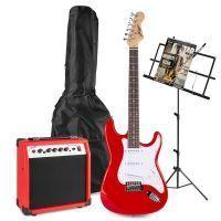 Johnny Brook JB404 rode elektrische gitaar starterset met muziekstandaard