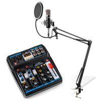 Vonyx podcast starterset met mixer, CMS400 studiomicrofoon en microfoonarm