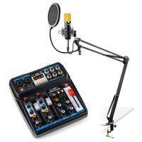 Vonyx podcast starterset met mixer, CMS400B studiomicrofoon en microfoonarm