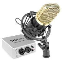 Vonyx CM400B studiomicorofoon met PDX25 USB audio interface voor podcasts, live recording, studio, etc.