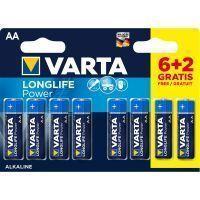 Varta Alkaline batterijen 8x AA 1.5V voor o.a. MAX keyboards
