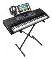 MAX KB3 keyboard met 61 aanslaggevoelige toetsen, keyboardstandaard en koptelefoon