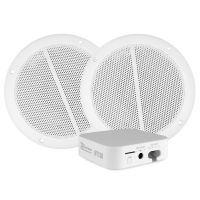 Power Dynamics WT10SET WiFi audio streamer met 2 plafondspeakers - Complete set!