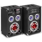 Fenton KA-06 actieve karaoke speakerset 400W met Bluetooth en LED's