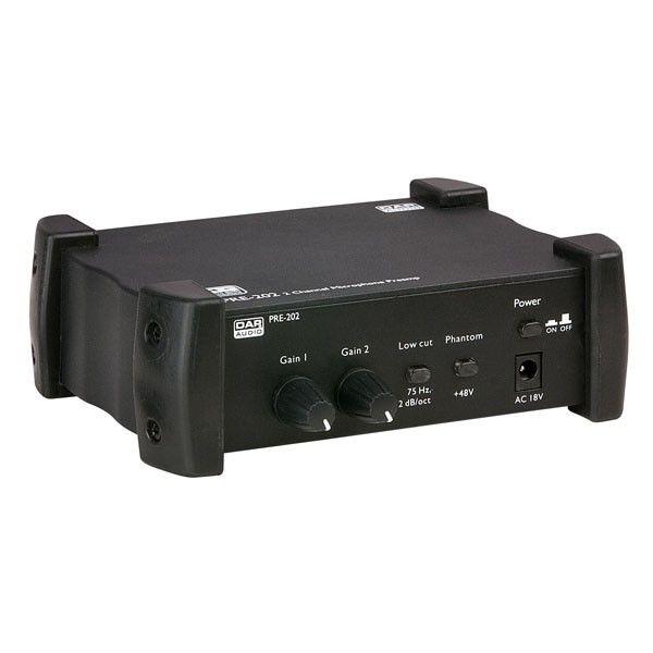 DAP-Audio PRE-202 fantoomvoeding 48V