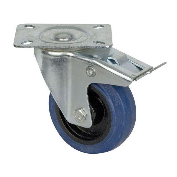 Afbeelding van DAP-Audio Blue Wheel, 100 mm met rem...