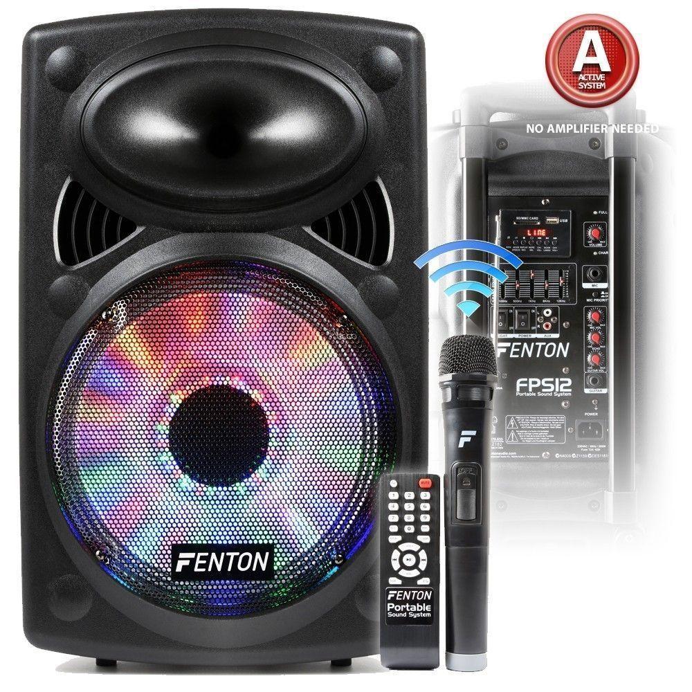 Afbeelding van 2e keus - Fenton FPS12 mobiele karaoke set 12 inch met bluetooth en dr...