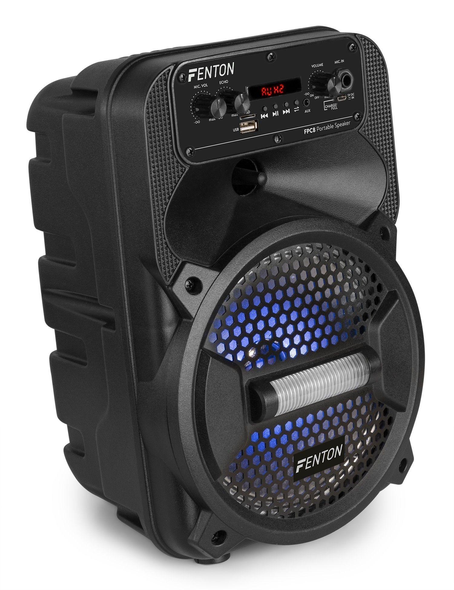 "Afbeelding van Fenton FPC8 Portable Party Speaker Rechargeable 8""..."
