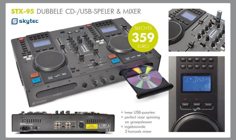 SkyTec STX-95 Professionele Dubbele Top CD/USB Speler / mixer