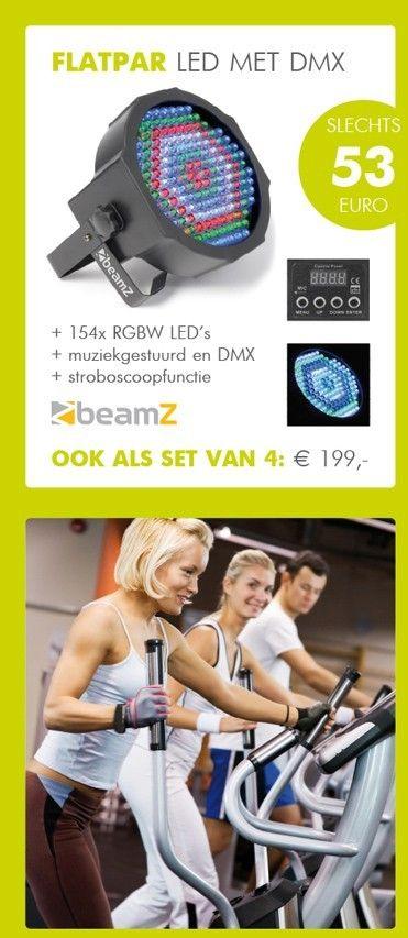 BeamZ FlatPAR 154x 10mm RGBW LED's DMX