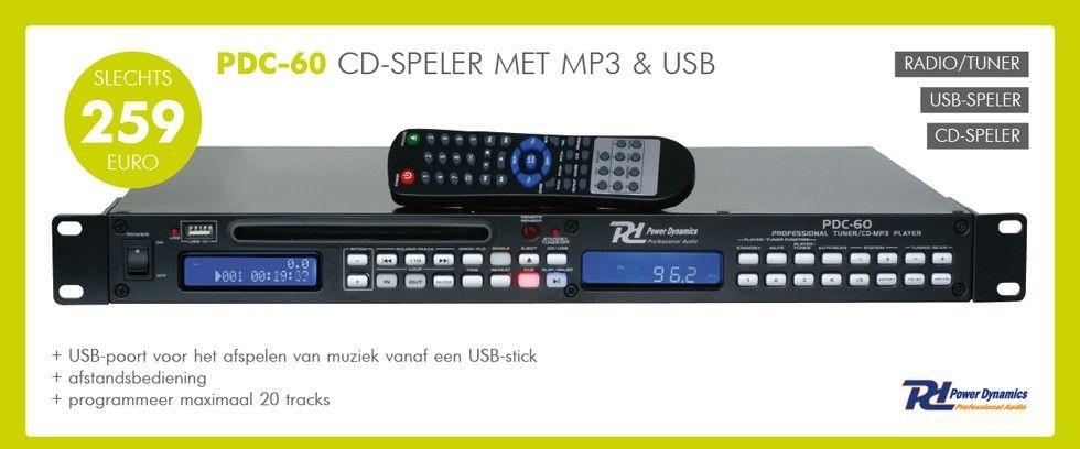 PDC-60 CD-Speler met MP3 & USB