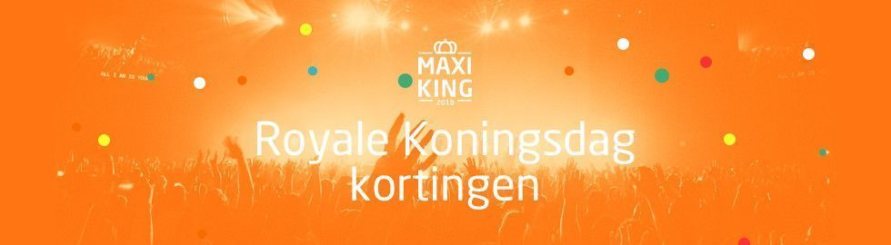 Royale Koningsdag kortingen bij MaxiAxi!