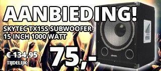 SkyTec TX15S Subwoofer 15 inch 1000 watt